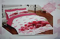 Набор постельного белья с одеялом и подушками ALACA 3D Gul Yagmuru