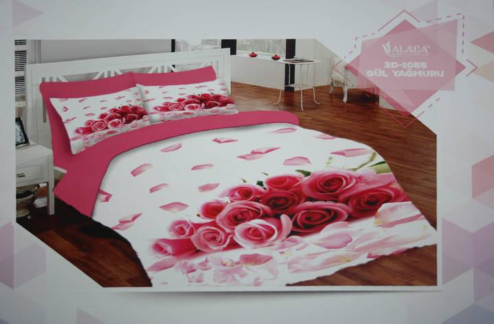 Набор постельного белья с одеялом и подушками ALACA 3D Gul Yagmuru, фото 2