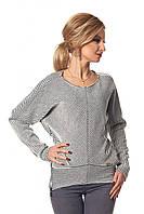 """Красивый женский свитер """"летучая мышь"""", черно-белого цвета"""
