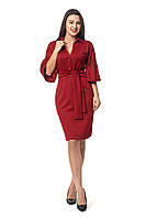 Платье для полных  новинка Теона А4 размеров  от 46 до 56  бордовое