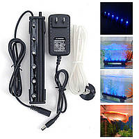 12V 1.2W 6 LED Голубой воздух Bubble Light под водой Погружной Аквариум Рыбный резервуар Лампа Декор
