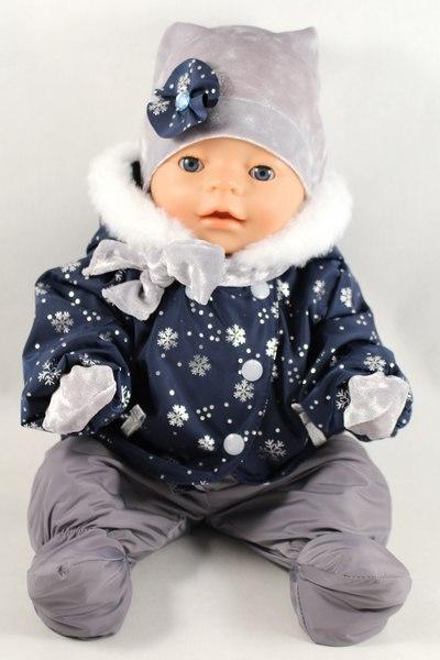 Зимний комплект курточка, полукомбинезон, шапка, шарф, варежки для кук