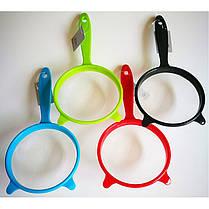 КухоннаяфильтровальнаяложкаутечкисеткиБольше спецификаций Размер Сетка утечки Пластиковая ручка для рыбы, фото 2