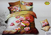 Сатиновое постельное белье евро 3D ELWAY S335