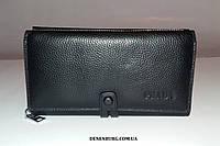 Клатч мужской PRADA P1666 чёрный, фото 1