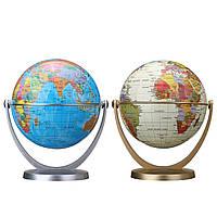 360 Dregee Вращающиеся глобусы Earth Ocean Globe World Geography Map Table Desktop