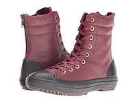 Ботинки/Сапоги (Оригинал) Converse Chuck Taylor® All Star® Leather + Fur Hi-Rise Boot XHi Deep Bordeaux/Black/Black