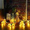 Батарея Powered 2.3M 20LEDs Теплый белый ананас Shaped На открытом воздухе Фонари String Lights для праздников, фото 4