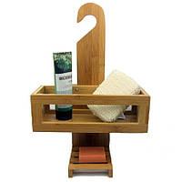 Ванная комната Полки Бамбуковая подвесная стойка для кондиционера шампуня Мыло Ванная комната Хранение