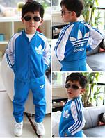 Трикотажный детский костюм Адидас для мальчика рост 90-128см