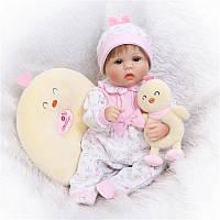 """NPK 17"""" Реалистичный ручной новорожденный ребенок Кукла Мягкий Силиконовый Виниловый Lifelike Newborn"""