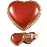 Шоколадное Сердце с пожеланием