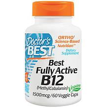 Doctor's s Best, Best, Активний вітамін B12, 1500 мкг, 60 рослинних капсул