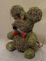 Игрушка из сена Мышка (25 см)