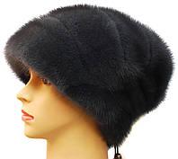 """Норковая шапка """"Стелла"""" (ирис)"""