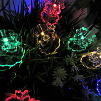 KCASA SSL-3 Садоводство 4.8M 30LED Солнечная Панельный свет Отец Рождественский праздник Рождество Свадебное Декор