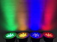 Светодиодный тротуарный линзованный светильник LM13 12W красный, синий, зеленый, желтый Код.59137