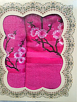 Махровые полотенца в упаковке в ассортименте