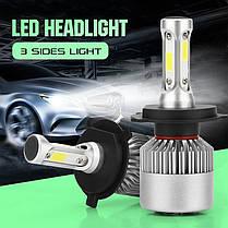 Світлодіодна лампа H4 36 Вт (в наявності 1 штука 36 Вт) 8000LM пара, 6500K LED HEADLIGHT, фото 3