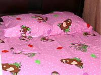 """Детское постельное белье """"Маша и медведь на розовом"""""""