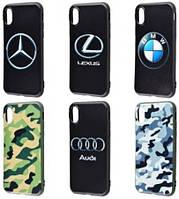 "Чехол-накладка ""Car Brands/Khaki (TPU)"" для iPhone X"