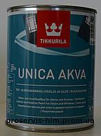 Полуглянцевая акрилатная краска Уника Аква -Tikkurila  Unica Akva 0.9л База А