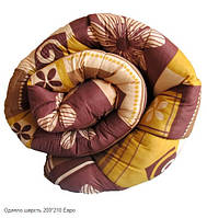 Одеяло стеганное Евро двуспальное Голд, шерсть 200х210