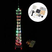 DIY Маленькая красочная Светодиодный Cube Кантонская башня Suite IR Дистанционное Управление Электронная Набор