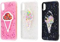 "Чехол-накладка ""Diamond Hearts Ice Cream"" для iPhone X"
