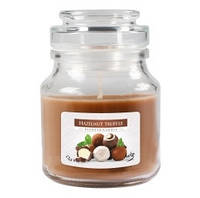 Ароматическая свеча BISPOL в стеклянном стакане с крышкой №SND71 - Ореховый трюфель