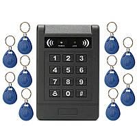 Электронный RFID Контроль доступа к двери на дверях клавиатуры Код пароля Замок +10 ID Keyfob