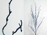"""Искусственные цветы """"Ветка синяя"""""""