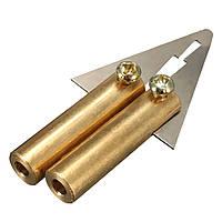 Авто Резиновый ремонт бампера Fender для ремонта пластмассы Набор Ремонтный пистолет-пусковой шпатель Треугольный шпатель