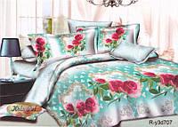 """Комплект постельного белья семейный, ранфорс  3D """"Розы в зеркалах"""""""