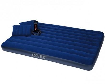 Матрас надувной Intex  + ручной насос и 2 подушки, 152см - PREZENTIMO в Киеве