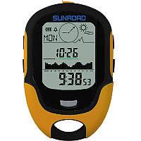 SUNROAD700-9000m LED цифравой Высотомер и Барометральтиметра компаса Водонепроницаемый Альтиметр альпинизма Инструмент для рыбалки и альпинизм
