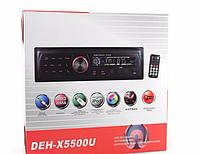 Автомагнитола MP3 5500 съемная панель, автомобильная магнитола Pioneer USB+SD+FM+AUX, магнитола пионер