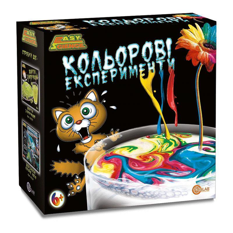 Цветные эксперименты (укр.упаковка), Детский игровой набор, Easy Science