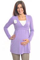 """Туника """"Декор"""": беременность, кормление (фиолет), фото 1"""