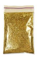 Глиттер золото червоное пакет 50 г (0,2 мм)  (блестки, песочек)