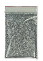 Глиттер серебро пакет 50 г 1/128. (0,2 мм)  (блестки, песочек)