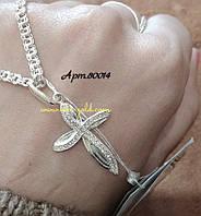 Серебряный крест женский 925 пробы .