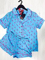 Фламинго комплект рубашка и шорты, пижамы женские, фото 1