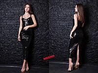 Очень красивое длинное вечернее платье  из дорогой паетки
