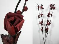 Искуственный цветок коричневый