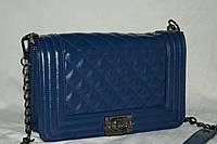 Женская сумка/клатч Chanel BOY, Шанель (синий), 00844