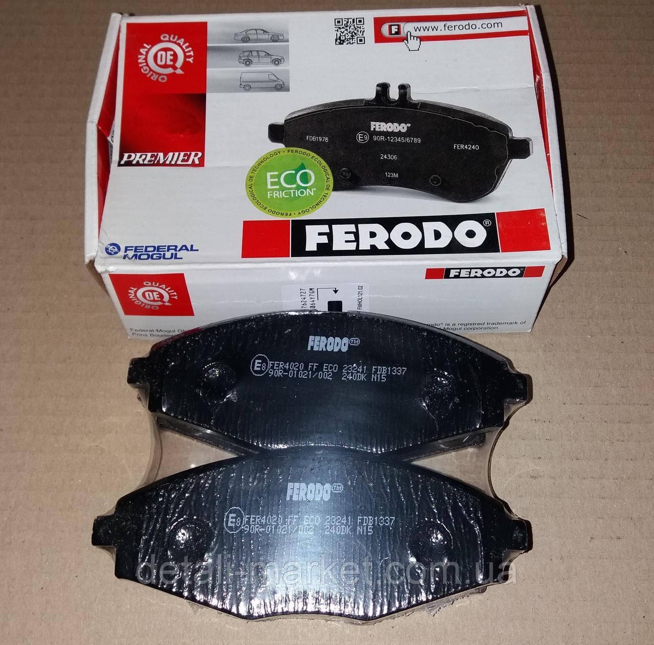 Колодки передние Сенс Ланос FERODO