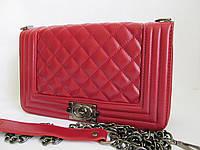 Женская сумка/клатч Chanel BOY, Шанель, большой, (КРАСНЫЙ), 00847
