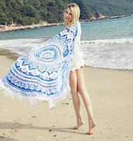 Пляжный коврик Mandala blue 150см