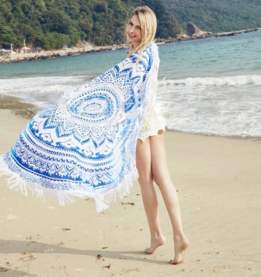 Пляжный коврик Mandala blue 150см - PREZENTIMO в Киеве